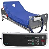 Vive 8' Alternating Pressure Mattress - Low Air Loss Hospital Replacement Mattress - Medical Bed Topper for Pressure Ulcers and Bed Sores - Variable, Inflatable Pressure Pump System