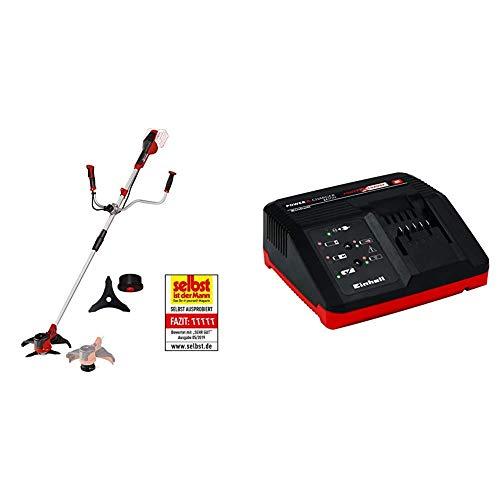 Einhell AGILLO - Guadaña a Baterías, 2x18V + 4512011 - Cargador Power X-Change 18 V