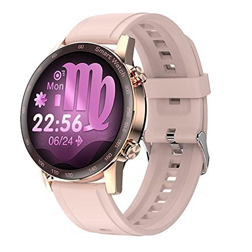 BNMY Smartwatch Reloj Inteligente con Reproductor De Música Conecte Los Auriculares TWS Llamada Bluetooth Ciclo Menstrual Femenino Impermeable IP68 Smartwatch para Android iOS,F
