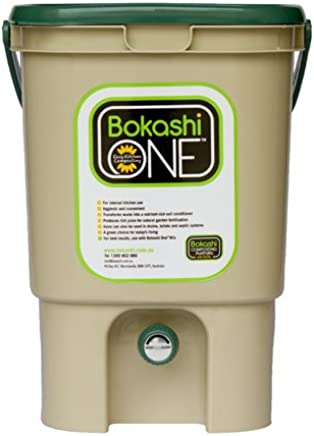 Bokashi One Eco-Friendly Composting Kitchen Plastic Bucket 20 Litre - Tan