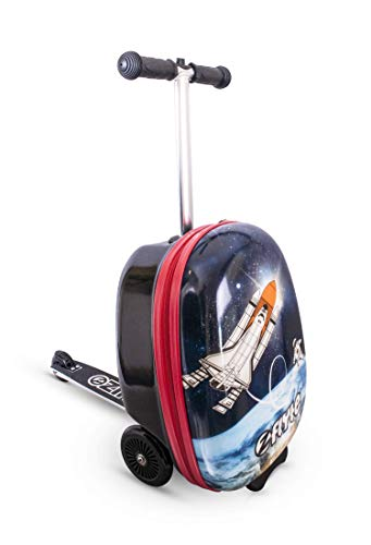 Stephan The Astronaut ZincFlyte Midi 4-8 Jahre Koffer Rakete Jungs Scooter Roller Kindergepäck