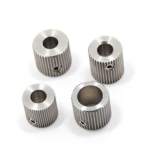 XBaofu 4pcs Extruder Feeder Antriebsriemenscheibe Zahnrad 38 Zähne for MakerBot MK7 MK8 Getriebe 3D-Drucker-Teile Radbohrung 5mm Edelstahl Teil (Größe : 40 Teeth Bore 8mm)