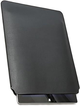 V.M Surface スリーブ ケース Laptop/Pro / 3 レザー カバー 軽 薄 皮 革 サーフェス ラップトップ スリーブケース 13.5 インチ スリップインケース Surfaceラップトップ 純正 スリップ 13.5インチ サーフェスラップトップ スリップイン マット ブラック SurfaceLaptop 黒 艶消