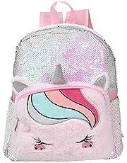 Vssictor Glitter Eenhoorn Rugzak Boekentas Schooltas Modeschool Pailletten Eenhoorn Tas voor Meisjes Vrouwen