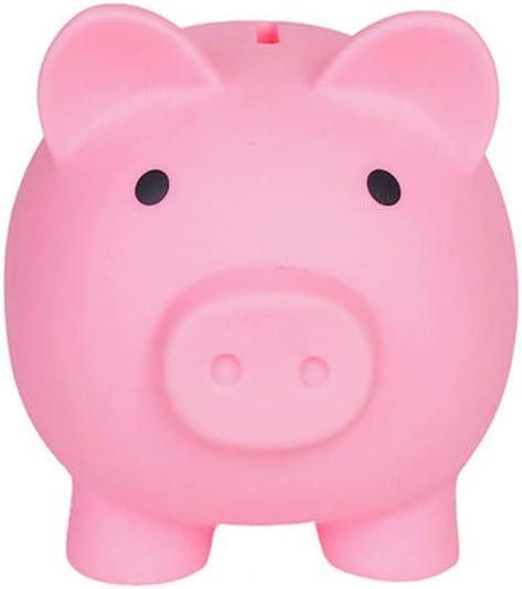 Cute Piggy Bank, Coin Bank for Boys and Girls, Children's Plastic Shatterproof Money Bank,Children's Toy Gift Savings Jar.(Pink)