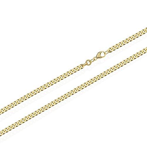 NKlaus armatura catena 333 catena in oro giallo massiccio 5806, 55cm di lunghezza, 8,7g, 2,4mm di larghezza