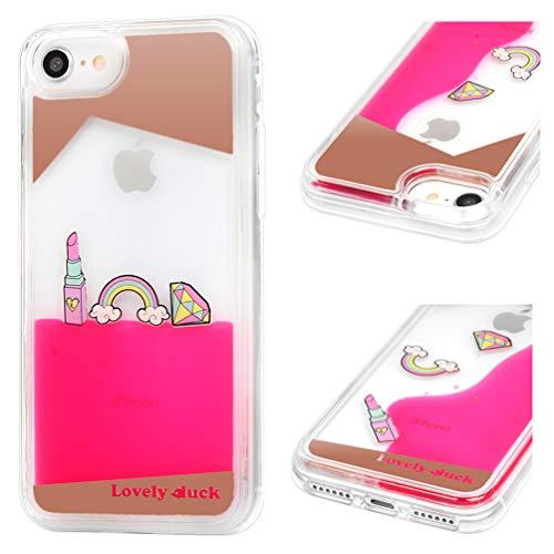 ToneSun Handyhülle für iPhone 7 / iPhone 8 Hülle, Gemalt Sequins Sparkle Flüssig Liquid Crystal...