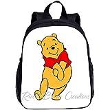SL-YBB Winnie The Pooh - Zaino per bambini da 13 pollici, in nylon resistente e impermeabile, per ragazzi e ragazze, Pooh -2 (Blu) - SL-YBBGHJFDDS