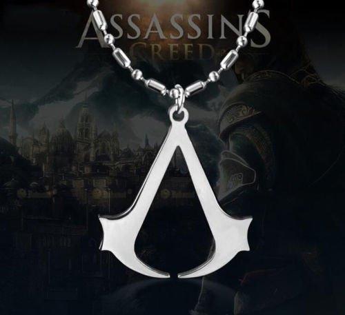 HSDDA - Collar con colgante de cadena de acero para hombre, diseño de Assassin's Creed Altair, color plateado