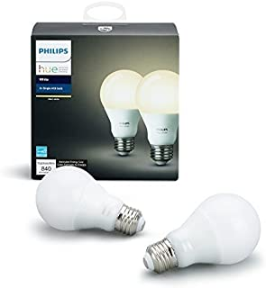 Philips Hue White 2-Pack A19 60W Equivalent Dimmable LED...