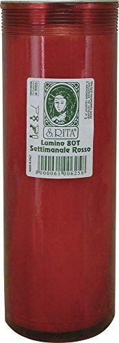 La Briantina Lumino Settimanale, Rosso, 24 x 8 cm