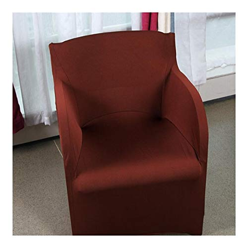 LUOSI Stretch Arm Chair Covers Spandex Armchair Cover Hochzeit Party Chair Cover Schonbezüge for Sessel (Color : Coffee, Specification : 73x55CM)