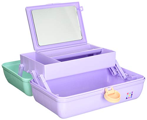 Caboodles On-The-Go Girl Sea foam Lid & Lavender Base Vintage Case, 1 Lb