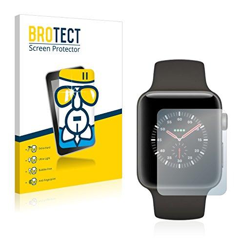 BROTECT Panzerglas Schutzfolie kompatibel mit Apple Watch Edition Series 3 (38 mm) - AirGlass, extrem Kratzfest, Anti-Fingerprint, Ultra-transparent