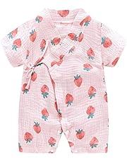 PAUBOLI Kimono para bebé recién nacido, de hilo de algodón, mameluco para bebés de 0 a 24 meses