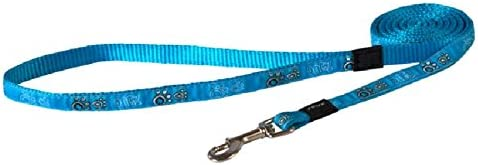 Rogz Fancy Dog Lead, Turquoise, Medium