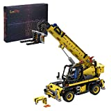 Myste Mecánica de carga pesada, bloques de construcción, MOC-43871, 942 bloques de construcción, carretillas elevadoras, vehículos de construcción, camiones, compatible con Lego Technic 42079