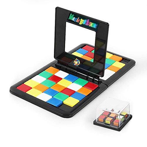 GAOJIEJM Building Blocks Gift Puzzle Match Color Battle Cube Juego | Clásico Juego de Tablero de Secuencia de Estrategia rápida, último Juego Doble Cara a Cara