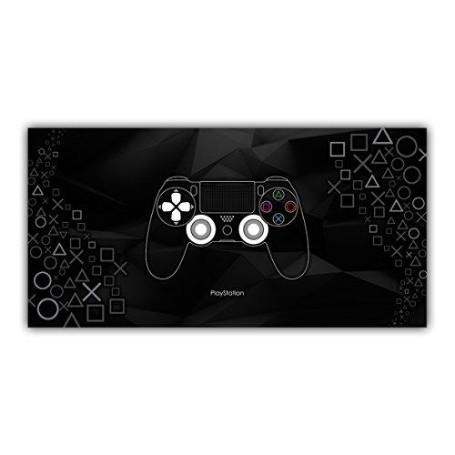 Arimaje Playstation Tableau Poster Décoration Sony Jeux Vidéo Manette Console (60 x 120 cm, Plaque Rigide Alu 2 mm)