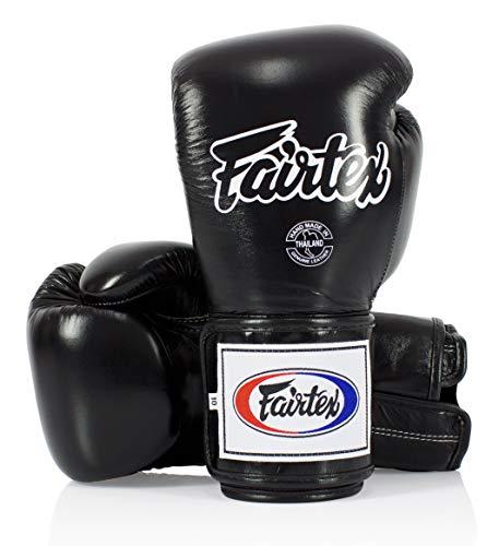 Fairtex Boxing Gloves BGV5 - Super Sparring Gloves, Black/White Color. Size: 12...