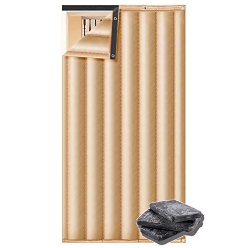 JINGMAI Wärmeschutzvorhang, 3cm Eindicken Isolierter Türvorhang, PU-Material Thermovorhang, Anti Schneesturm zum Klimatisiertes Zimmer Anpassbar (Color : Beige, Size : 1x2.4m)