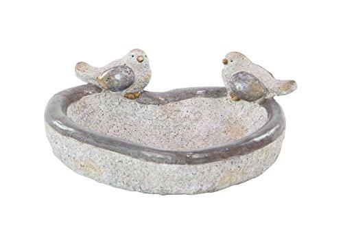 Deco 79 66915 Bird Feeder, Gold/Gray/White