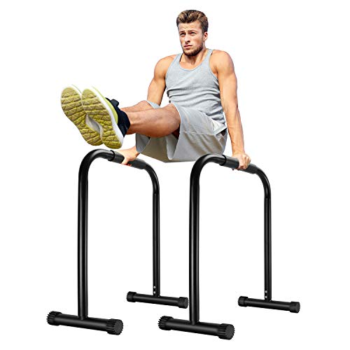Surwit Dip Barren tragbare Dip Station Fitness Bar, Workout Pull Up Dip Stand, verstellbare Körperpresse Bar Stabilisator Parallette Push Up für Heim-Gym Training Calisthenics Ausrüstung