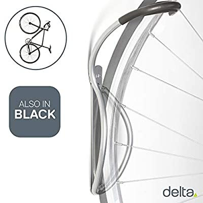 Delta Cycle Leonardo Da Vinci Single Bike Storage Rack Hook Hanger with Tire Tray for Vertical Indoor Garage ( color may vary )