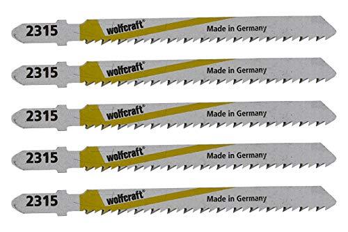 Wolfcraft 2365000 5 Stichsägeblätter Art.2315 HSS 75 mm