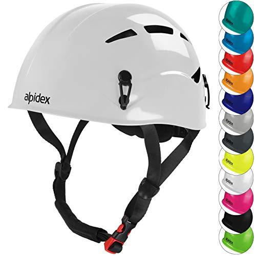 ALPIDEX Casco per Arrampicata de Donna e Uomo Casco Alpinismo en Diversi Colori, Colore:Bright White