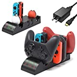 <span class='highlight'><span class='highlight'>FASTSNAIL</span></span> 6in1 Charger for Nintendo Switch Pro Controller and Joy-con and Poké Ball Plus, Joy Con Charger Dock, Pro Controller Charging Dock, Poke Ball Plus Charging Station with USB Cable