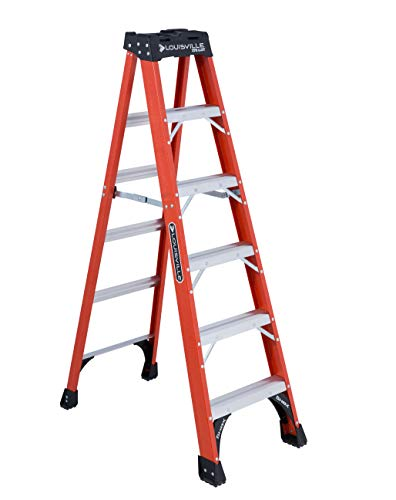 Louisville Ladder 6-Foot Fiberglass Step Ladder, 375-Pound Capacity, FS1406HD