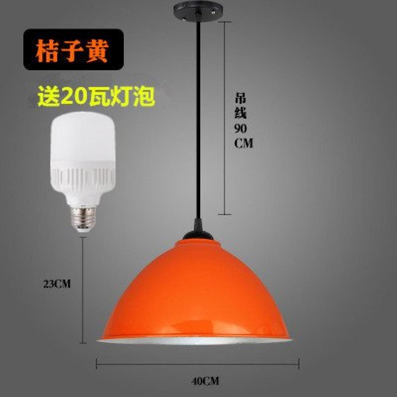 Luckyfree Kreative Modern Fashion Anhnger Leuchten Deckenleuchte Kronleuchter Schlafzimmer Wohnzimmer Küche, 40 cm dicken Orangefarbenen 20-W-Lampe