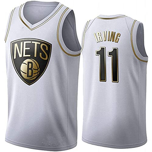 Platinum Edition Men's Basketball Jersey NBA Brooklyn Nets 11# Kyrie Irving Cómodo/liviano/Transpirable Bordado Malla Swing Swing Camiseta Retro Sudadera,XXL