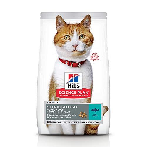 Hill's Feline Young Adult Sterilised Cat Tuna Comida para Gatos - 300 gr, Normal