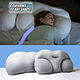 LUCKYY All-Round Cloud Pillow Sleep Pillow Baby Nursing Pillow,Adicción al sueño Profundo Almohada ergonómica 3D Almohadas de Viaje Lavables para el Cuello (Azul)
