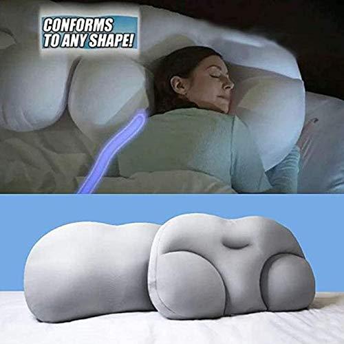 LUCKYY All-Round Cloud Pillow Sleep Pillow Baby Nursing Pillow,Adicción al sueño Profundo Almohada ergonómica 3D Almohadas de Viaje Lavables para el Cuello (Blanco)