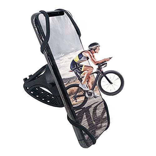 Soporte Movil Bicicleta Rotación 360° Soporte Manillar Desmontable Manillar Porta Móvil Moto 4.0 a 7.1 Pulgada Teléfonos Compatible con