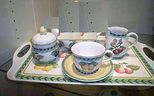 VILLEROY BOCH. French Garden - Juego de 9 Tazas de té y azucarero (42 x 30 cm, melanina)