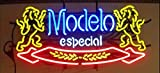 Neon Signs Modelo Especial Real Glass Beer Bar Pub Party Shop Store Recreation Room Home Wall Windows Display Handcraft Gift Neon Light 19x12