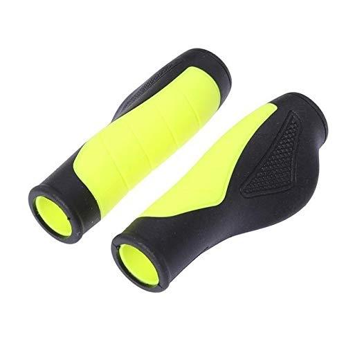 TLBBJ Bicycle Handle Bike Grips Bicycle Handlebar Grips Anti-Skid Ergonomic Bike Grips (Yellow) Durable in use. (Color : Yellow)