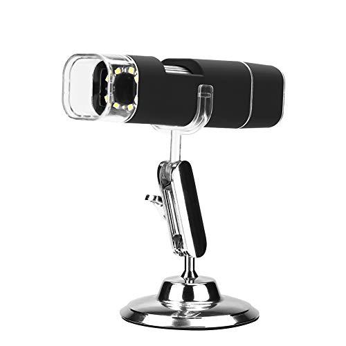 Akozon WiFi USB Microscope Handheld Digital Microscope Magnifier Wireless WiFi 1000X 2MP HD USB for iPhone/Android