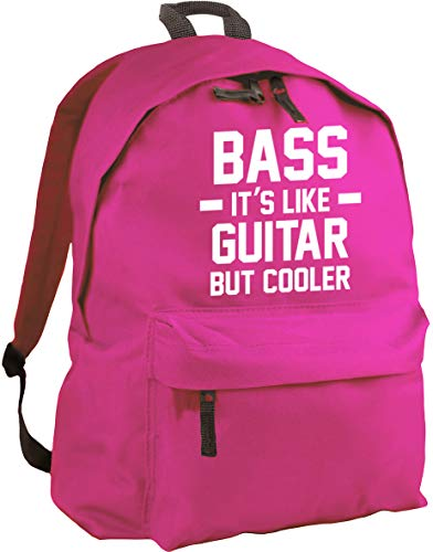 HippoWarehouse BASS IT'S LIKE GUITAR BUT COOLER backpack ruck sack Dimensions: 31 x 42 x 21 cm Capacity: 18 litres