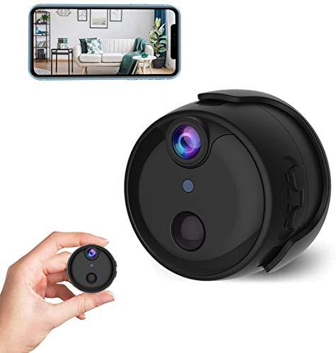Mini Kamera 1080P HD Mini Überwachungskamera Lange Batterielaufzeit Kompakte Kleine WLAN Sicherheitskamera für Innen WiFi Minikamera live APP mit Bewegungsmelder Speicher Nachtsichtkamera