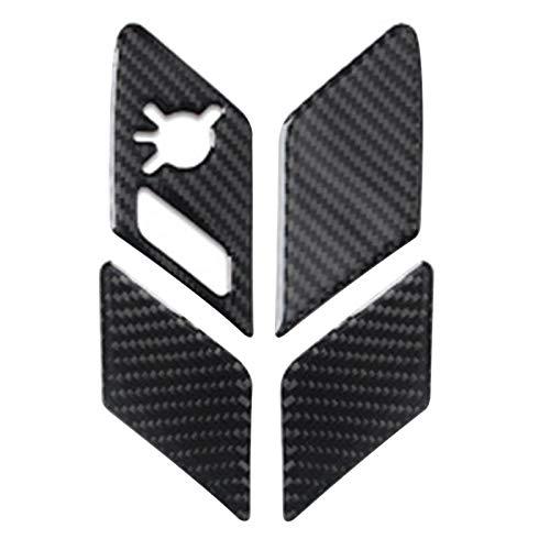 ZGYCYDLX Autopartes para Golf 7 MK7 2014-2019 Styling Bloqueo De Puertas Interiores Panel De Interruptor De Interruptor De Tapa De Ajuste De Fibra De Carbono Etiqueta Interior De La Etiqueta Interior