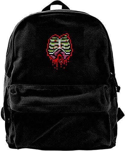 Homebe Mochila antirrobo Impermeable,Canvas Backpack Zombie Guts 8 bit Rucksack Gym Hiking Laptop Shoulder Bag Daypack for Men Women