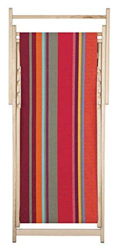 Chaise longue transat chilienne Collioure Rouge - Les Toiles du soleil