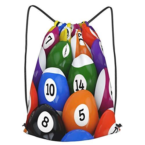 Olverz Mochila con cordón para bolas, de billar, impermeable, bolsa de gimnasio,...