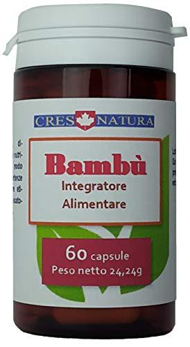 BAMBU\' 60 capsule. Integratore alimentare di estratto secco di bambù. Prodotto in Italia. Il silicio è necessario alla formazione del collagene