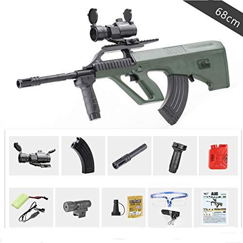 Pistolas de Agua infrarroja Pistola Juguetes para niños Rifle de plástico Soft Paintball CS Juegos Outdoor Kids Weapon AUG Toy Guns,Verde